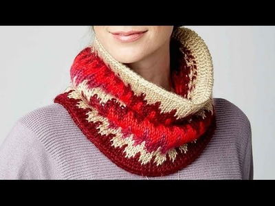 How To Do Tunisian Fair Isle Cowl