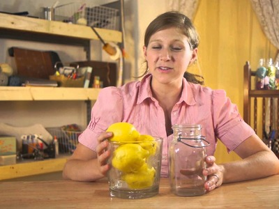 How to Keep Lemons in a Glass Jar Fresh for Decorating : Mason Jar Crafts & More