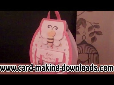 How To Make A Back Pack Gift Bag Template www.card-making-downloads.com