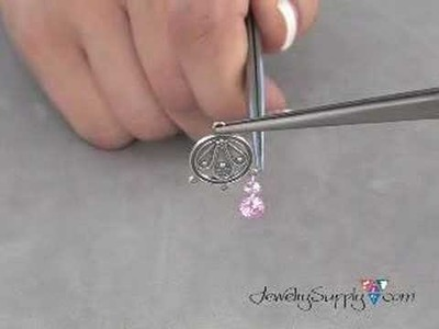 How to make you own CZ earrings - Jewelry Making