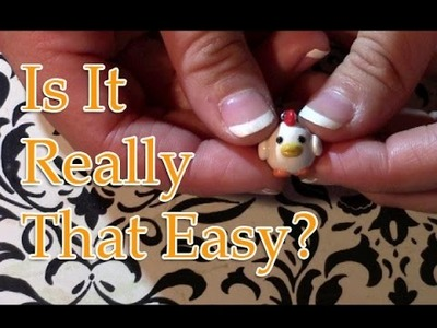 Is It Really That Easy- Polymer Clay Chicken Charm