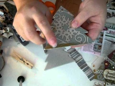 Making your own garland and Christmas card holder  &  or Christmas ornaments