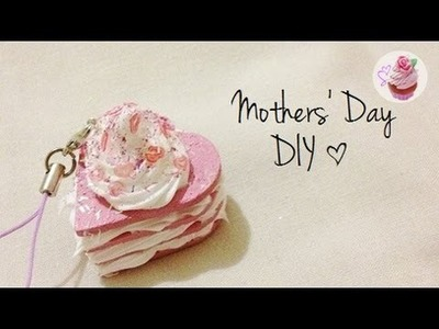 Mothers' Day DIY: Layered cake cellphone strap