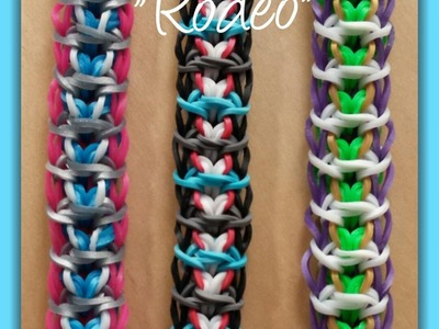 "My New Reversible ""Rodeo"" Rainbow Loom Bracelet.How To Tutorial"