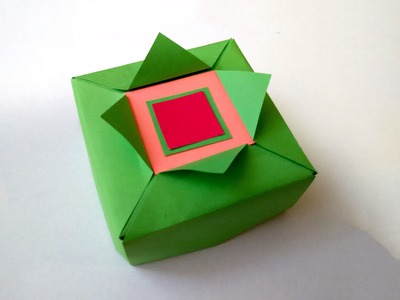 Origami gift box - Easy to do. Great ideas for gift wrapping