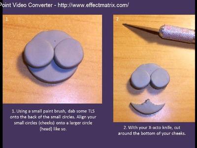Polymer Clay Hippo Pendant Tutorial