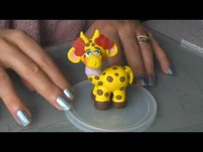 Polymer Clay Love Giraffe Tutorial ( Valentine 2013 )