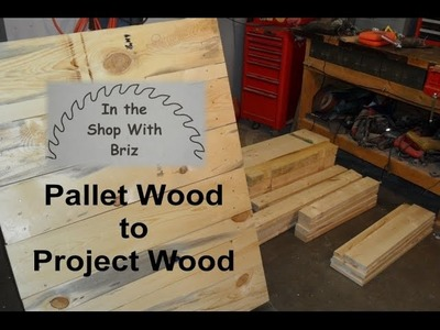 Preparing a Pallet For Projects