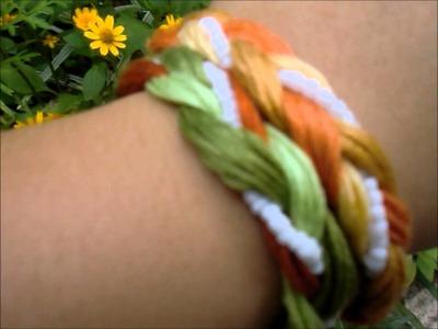 Pretty Braided Bracelet :) DIY howto :)