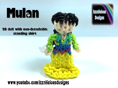 Rainbow Loom Mulan Princess Action Figure.Charm - 2D Standing Doll