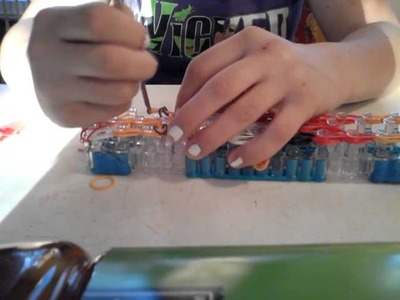 Santa claus rainbow loom part 2 of 3