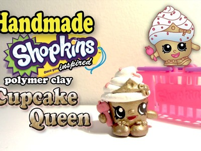 Season 1 Shopkins: How To Make Cupcake Queen Polymer Clay Tutorial!