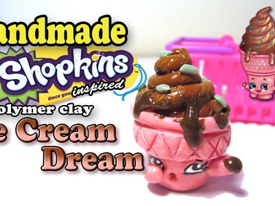 Season 2 Shopkins: How To Make Ice Cream Dream Polymer Clay Tutorial!