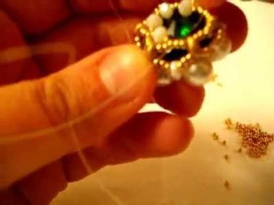 Tutorial ciondolo con perle di Monia Creazioni