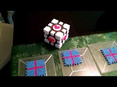 3D Perler Bead Companion Cube Tutorial Part 1