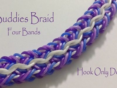 Buddies Braid 4 Bands - Hook Only Design