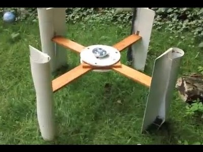 Build #3 of Vertical Axis Wind Turbine from Wood Siding
