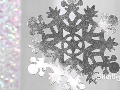 Decorative Hanging Silver Snowflakes - Party Supplies - Shindigz Christmas Decorations