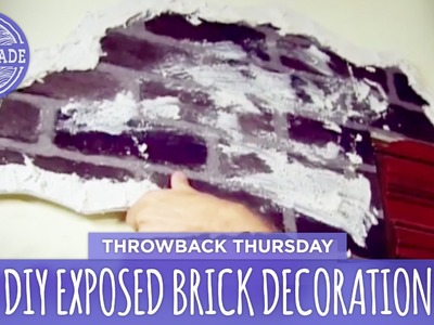 DIY Creepy Exposed Brick Wall Decoration - Throwback Thursday - HGTV Handmade