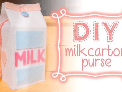 DIY: Milk Carton Shoulderbag.Purse