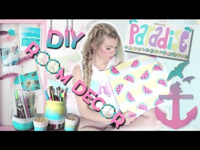 Easy DIY Room Decor Projects for Summer ♡ Pillows, Wall Arts, & +