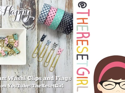 Easy DIY Washi Clips