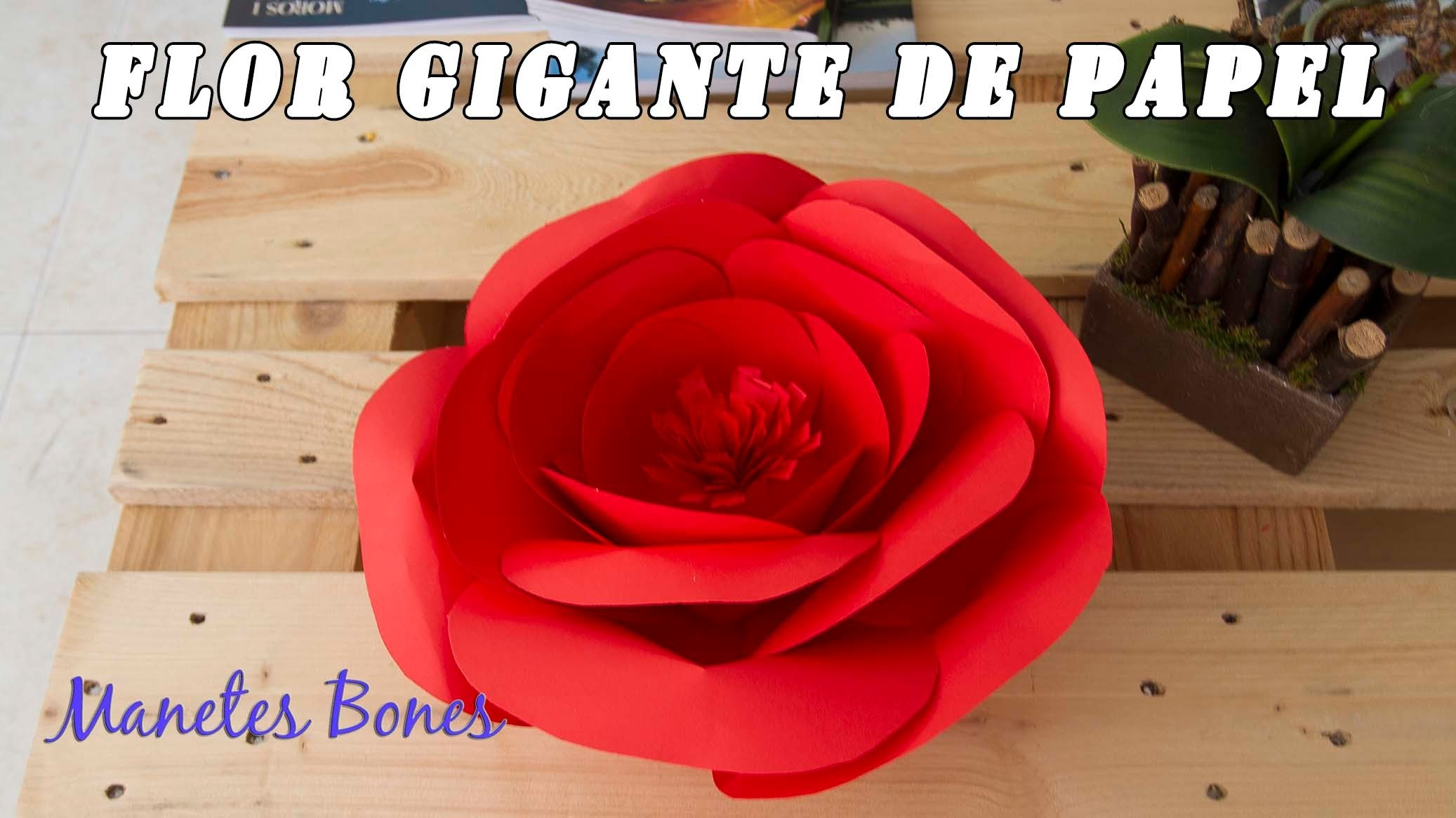 Flor de papel gigante | Giant paper flower | Tutorial DIY