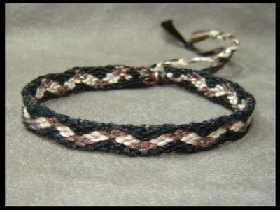 ► Friendship Bracelet Tutorial - Beginner - Checker Pathway