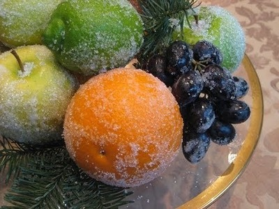Holiday fruit decorations