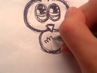 How to doodle a cartoon bird!