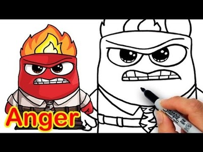 How to Draw Anger from Inside Out Cute Step by step