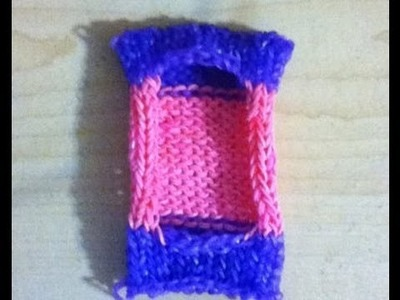 How to make a rainbow loom ipod case easy