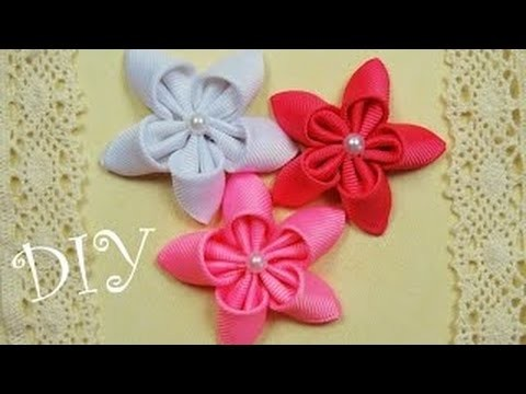 Kanzashi flowers how to make