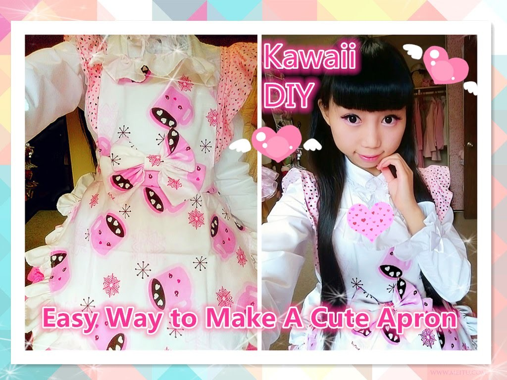 Kawaii DIY - Easy Way to Make A Cute Maid Apron (costume and cosplay) ^^