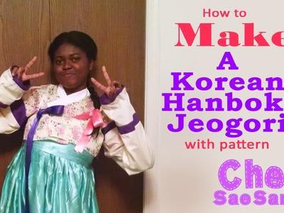 Korean hanbok joegori sewing tutorial