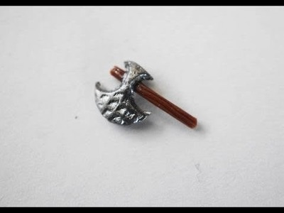Miniature Executioner Axe For Nail Art.  Polymer Clay Tutorial