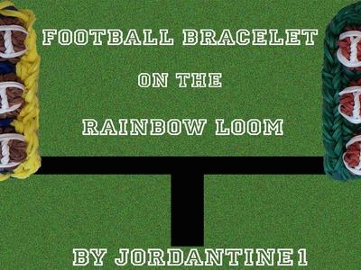 New 3D Football Bracelet -NFL Sports -  Rainbow Loom, Fun Loom, Crazy Loom, Bandaloom