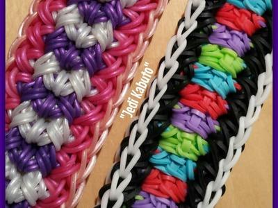 """New """"Jedi Kabuto"""" Rainbow Loom Bracelet. How To Tutorial"""