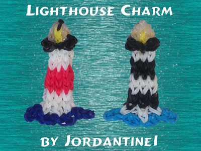 New Lighthouse Figure Charm - Rainbow Loom, Crazy Loom, Fun Loom, Wonder Loom