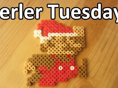 PERLER BEAD: CHRISTMAS MARIO! (Giveaway #73) Tutorial & How To