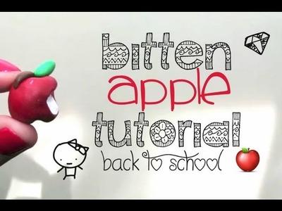 Polymer Clay Bitten Apple Tutorial (Back to School)