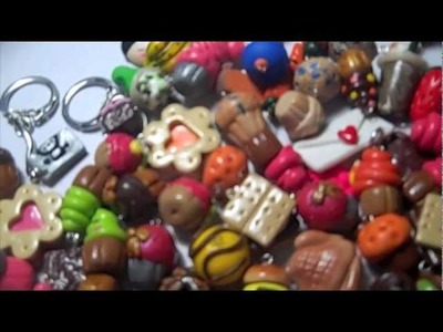 Polymer  clay chibi cupcake geekery charms update 2