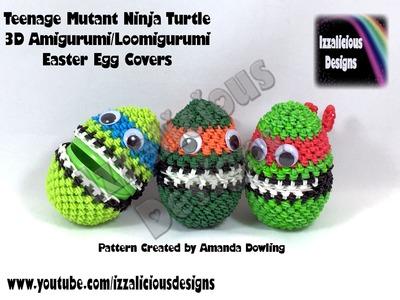 Rainbow Loom 3D Amigurumi.Loomigurumi Teenage Mutant Ninja Turtle Easter Egg Cover - Loomless
