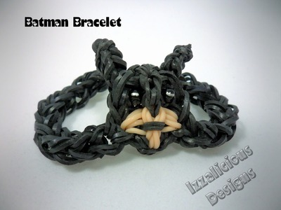 Rainbow Loom Batman Action Figure Bracelet Tutorial