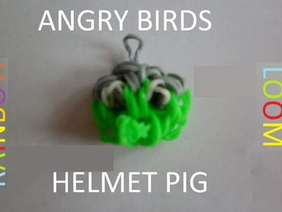 Rainbow loom Helmet Pig (Angry Birds. Bad Piggies series)