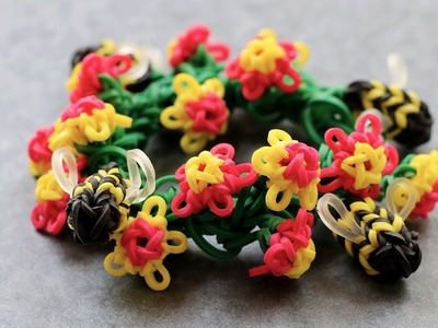 Rainbow Loom™  MonsterTail™  Mini Flower Charm Tutorial