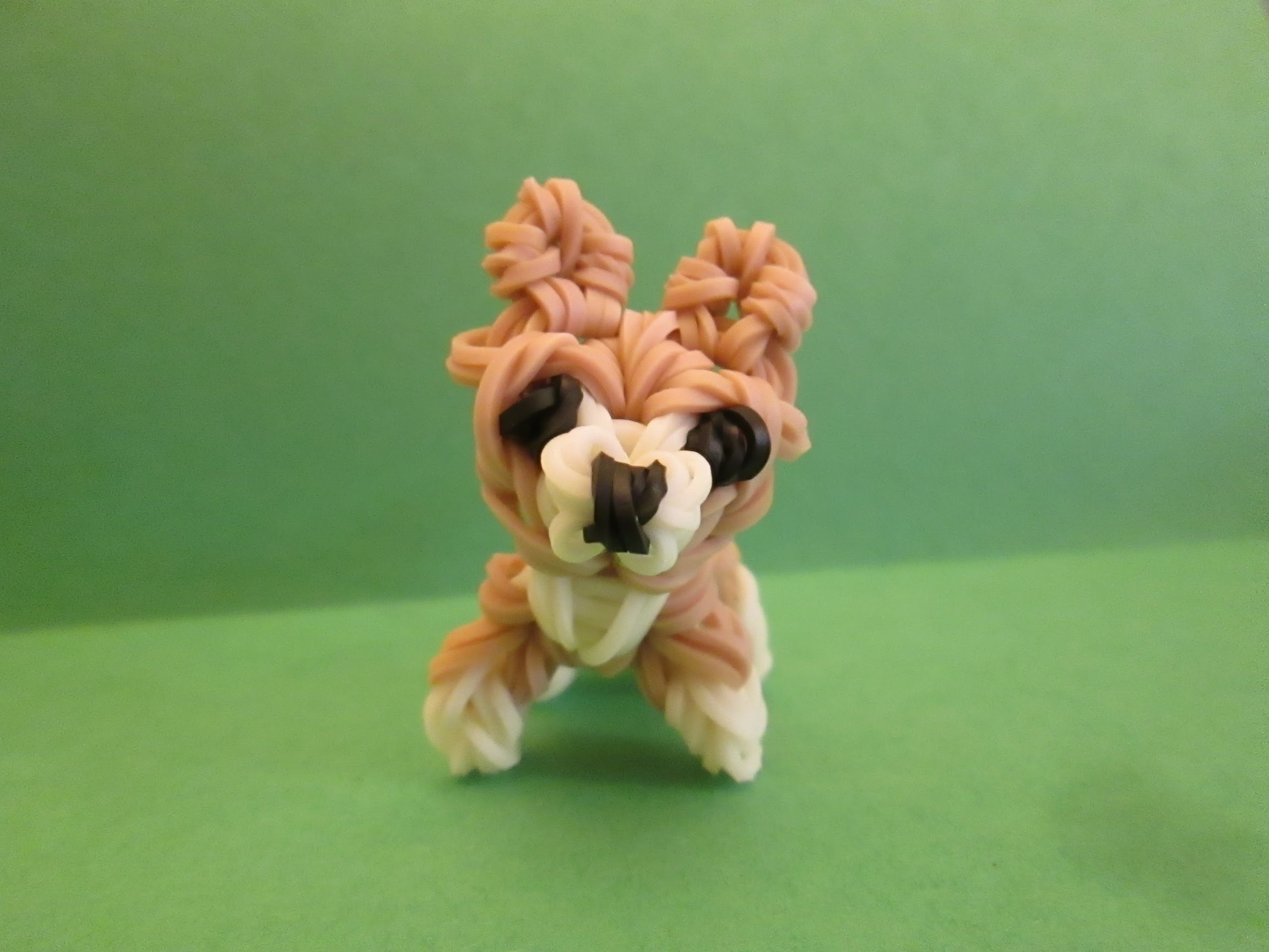 Rainbow Loom Pembroke Welsh Corgi Dog or Puppy Charm. 3-D