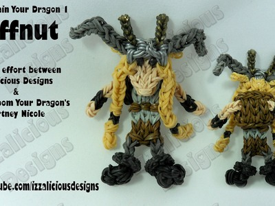 Rainbow Loom - Ruffnut from HTTYD1 Action Figure.Charm © Izzalicious Designs 2014