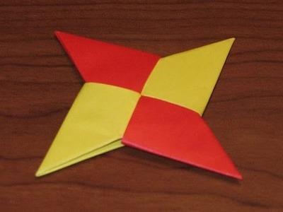 The Art of Paper Folding - How to Make an Origami Ninja Star Shuriken