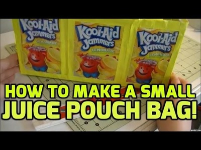 Tutorial: How to Make a Small Juice Pouch Bag! (: *No Sew*